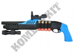 M180A2 Shotgun Pump Action Airsoft BB Gun Black and Blue